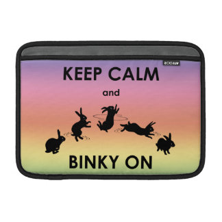 Keep Calm and Binky On MacBook Air Sleeve(Rainbow) Sleeve For MacBook Air