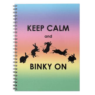 Keep Calm and Binky On Notebook (Rainbow)