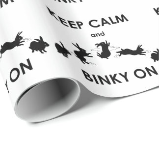 Keep Calm and Binky On Wrapping Paper