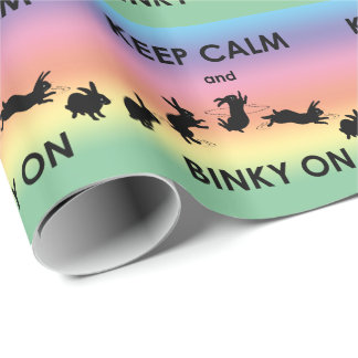 Keep Calm and Binky On Wrapping Paper (Rainbow)