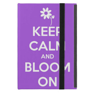 Keep Calm and Bloom On Purple Cover For iPad Mini