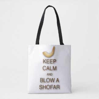 Keep calm and blow a shofar all-over tote / bag