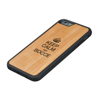KEEP CALM AND BOCCE CARVED CHERRY iPhone 6 BUMPER CASE
