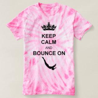 Keep Calm and Bounce Trampoline Pink Tye Dye shirt