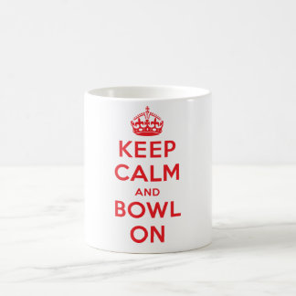 """Keep Calm and Bowl On"" Mug (White)"