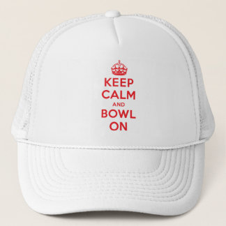 """Keep Calm and Bowl On"" Trucker Hat"