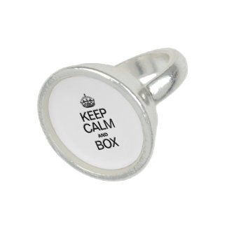 KEEP CALM AND BOX PHOTO RING