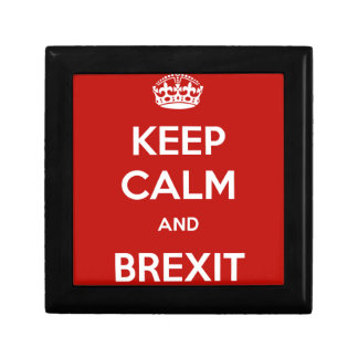 Keep Calm and Brexit Trinket Boxes