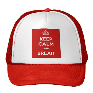 Keep Calm and Brexit Trucker Hat