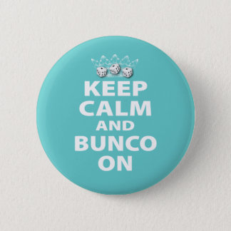 Keep Calm and Bunco On Design 2 Inch Round Button
