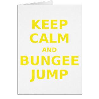 Keep Calm and Bungee Jump Card
