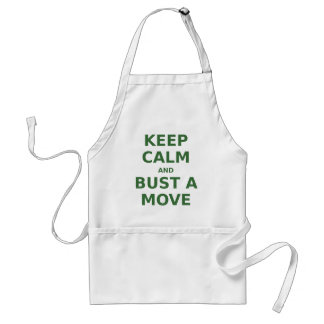 Keep Calm and Bust a Move Standard Apron