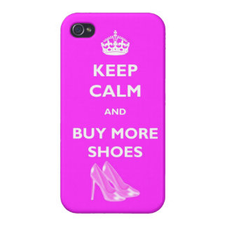 Keep Calm And Buy More Shoes IPhone 4 Glossy Case iPhone 4/4S Cover