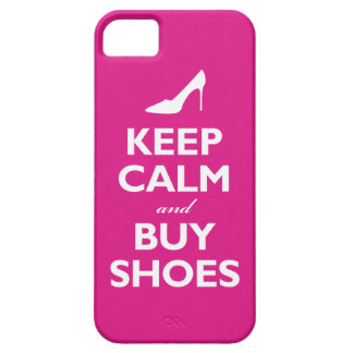 Keep Calm and Buy Shoes (hot pink) iPhone 5 Covers
