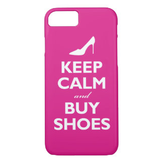 Keep Calm and Buy Shoes (hot pink) iPhone 8/7 Case