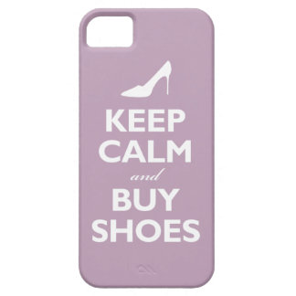 Keep Calm and Buy Shoes (pale violet) Case For The iPhone 5