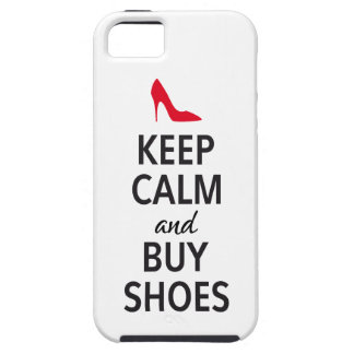 Keep calm and buy shoes, word art iPhone 5 covers