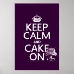 Keep Calm and Cake On (customizable)