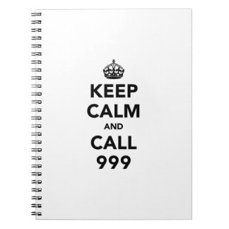 Keep Calm and Call 999 Notebook