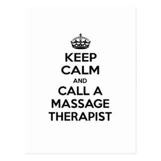 Keep Calm and Call a Massage Therapist Postcard