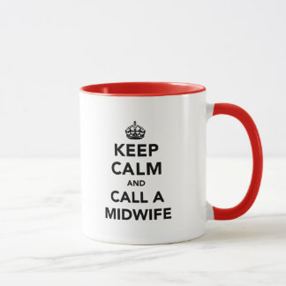 Keep Calm and Call A Midwife Mug