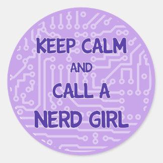 Keep Calm and Call a Nerd Girl Sticker