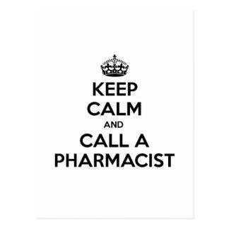 Keep Calm and Call a Pharmacist Postcard