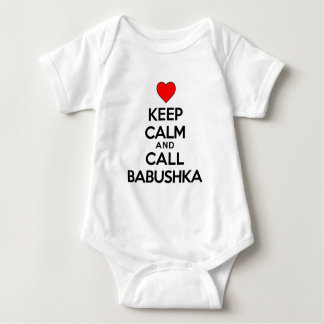 Keep Calm And Call Babushka Baby Bodysuit