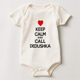 Keep Calm And Call Dedushka Baby Bodysuit