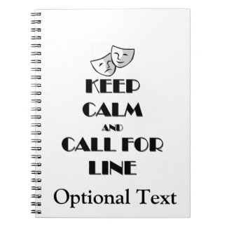 Keep Calm and Call for Line Notebooks