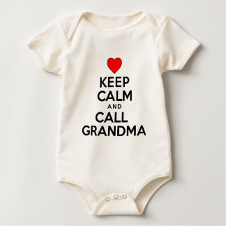 Keep Calm And Call Grandma Baby Bodysuit