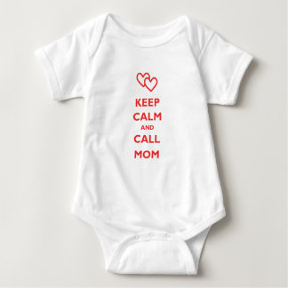 Keep Calm And Call Mom Baby Bodysuit