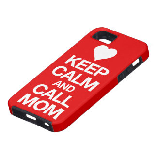 Keep Calm And Call Mom Heart iPhone 5 Case