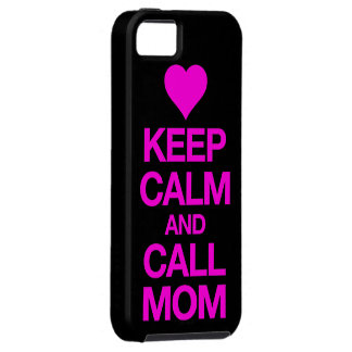 Keep Calm And Call Mom Pink Heart iPhone 5 Case