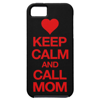 Keep Calm And Call Mom Red Heart iPhone 5 Case