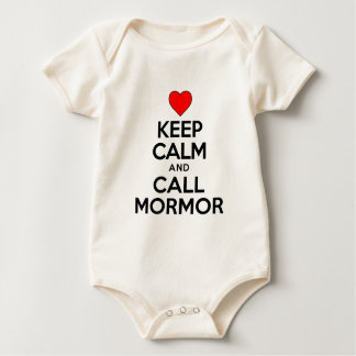 Keep Calm and Call Mormor Baby Bodysuit
