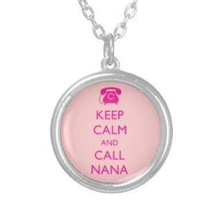 Keep Calm and Call Nana Necklace Gift for Grandma