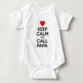 Keep Calm And Call Papa Baby Bodysuit