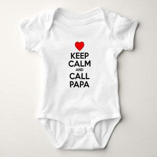 Keep Calm And Call Papa Baby Bodysuit