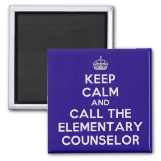 Keep Calm and Call the Elementary Counselor Magnet