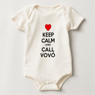 Keep Calm And Call Vovo Baby Bodysuit