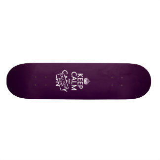 Keep Calm and Call Your Agent (any color) Skateboard Deck