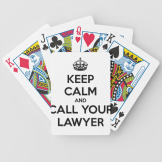 Keep Calm And Call Your Lawyer Bicycle Playing Cards