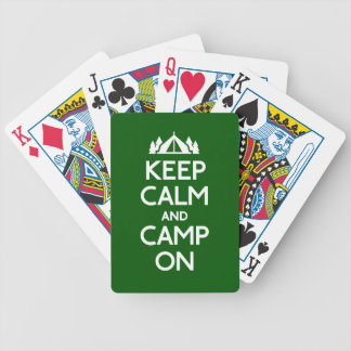 Keep Calm and Camp On Poker Deck
