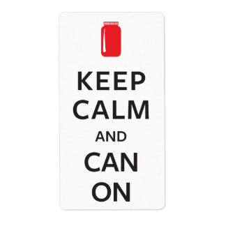 Keep Calm and Can On Shipping Label