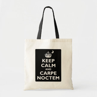 Keep Calm and Carpe Noctem Tote Bag