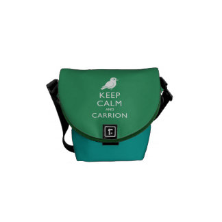 Keep Calm and Carrion (crow) Courier Bags