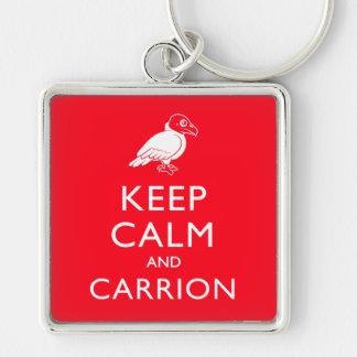 Keep Calm and Carrion Keychain