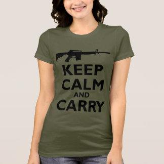 Keep Calm and Carry - 2nd Amendment - AR15 T-Shirt