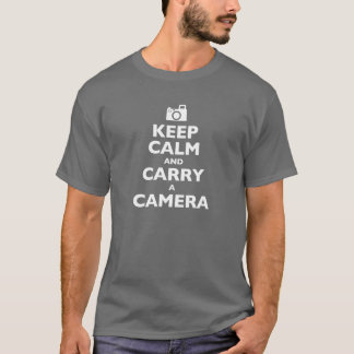 Keep Calm and Carry a Camera T-Shirt